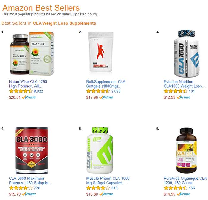 Amazon Best Sellers - CLA Weigh Loss Supplements